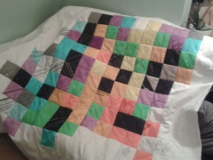The finished patchwork side of the quilt