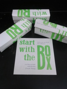 Start With The Box Academic Mantra Card