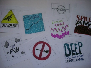 Some initial sketches for the Writing by Pictures blog