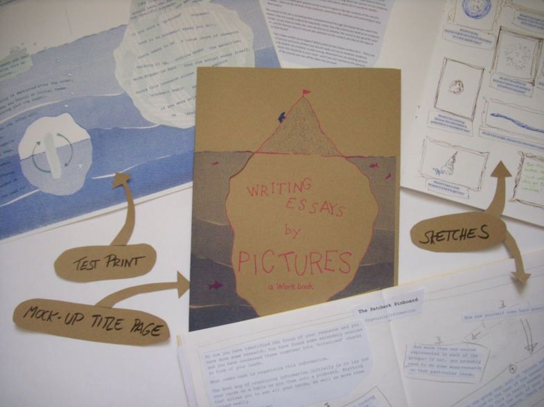 Initial stages for the Writing Essays by Pictures blog